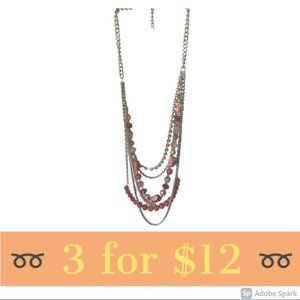 Coral & Pink Statement Necklace